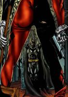 Batman harley colored by brimstoneman34