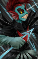 Undyne the Undying by Scarlet-Spectrum