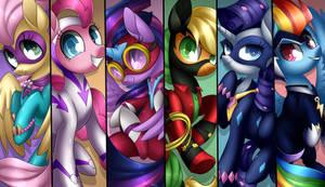 Power Ponies + Speedpaint by Scarlet-Spectrum