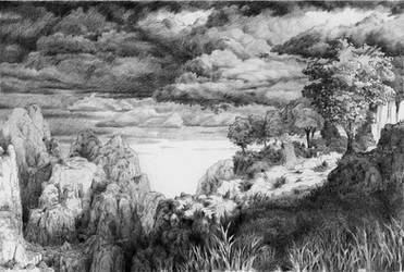 Invented landscape by AntoineRozel