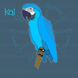 Kal The Macaw by HoundzzDraws