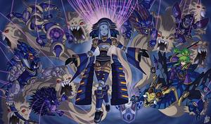 Yu-Gi-Oh! Shadoll Commission by IanDimas
