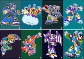 Daily Rockman - Rockman 7 Robot Masters by IanDimas