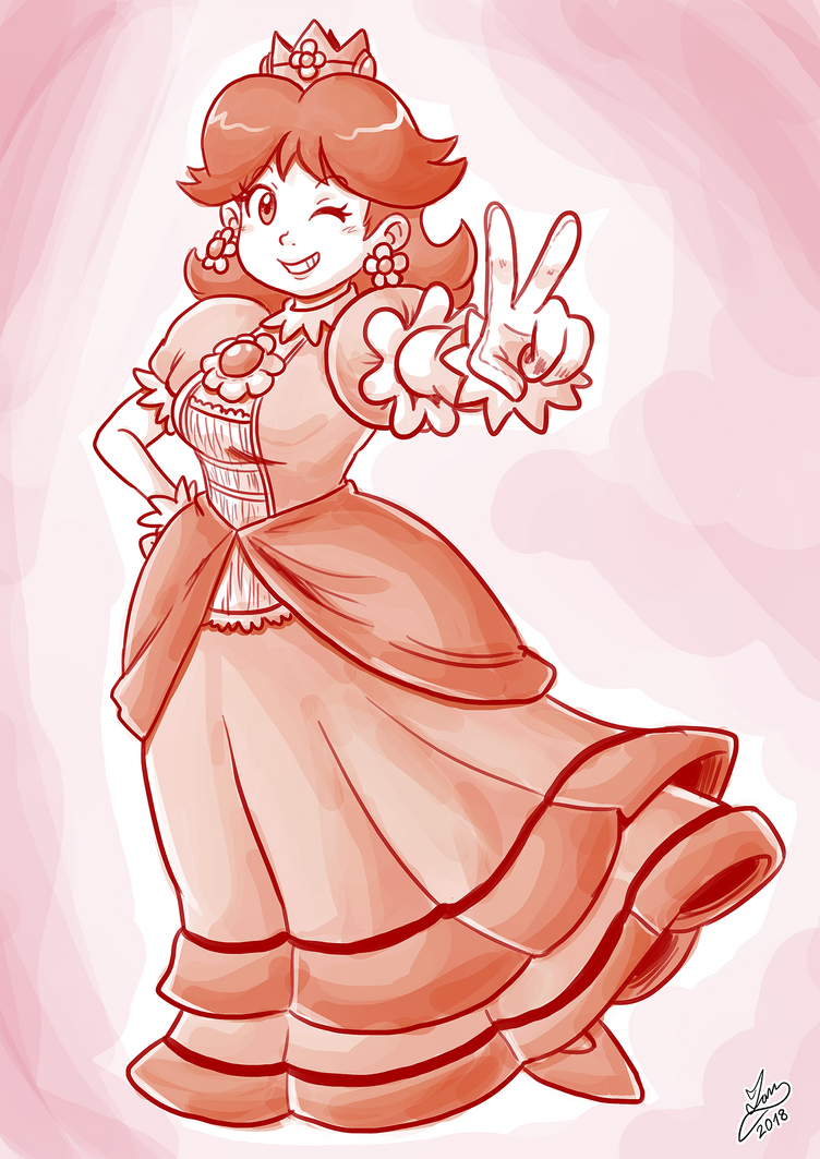 Sketchember 2018 - 03: Princess Daisy by IanDimas