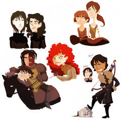asoiaf - doodles 3 by spoonybards