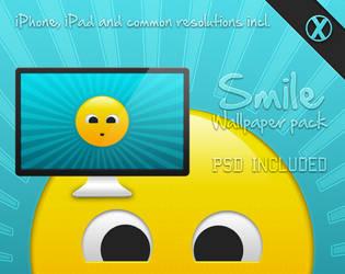 Smile - Wallpaper pack + PSD by xeloader