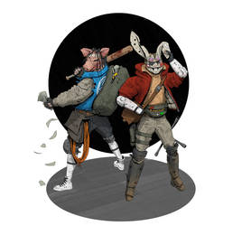 Hare and Swine by StTheo
