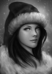 Christmas girl portrait by Gengar1991