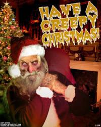 Creepy Zombie Santa by asconch