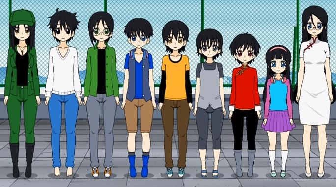 The Yoshida Family by DaniKaze17