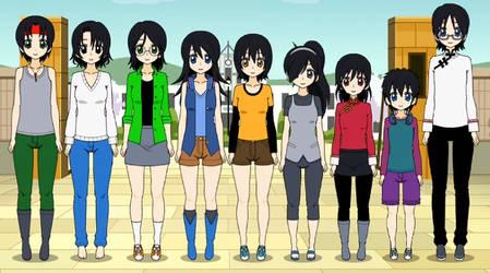 The Yoshida Family (genderbend ver.) by DaniKaze17