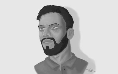 Man Face Illustration by Gabor2600