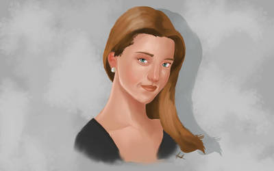 Digital Painting of a Woman by Gabor2600
