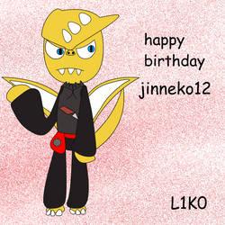 HAPPY BIRTHDAY JINNEKO12 by likosoft95