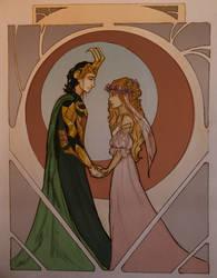 Asgardian Wedding by wolf-pirate55