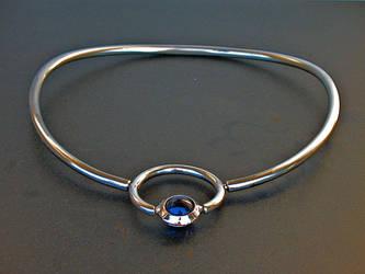 Blue Marble Swivel Pendant -2 by ou8nrtist2