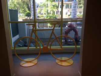 Bicycle Sculpture in Situ by ou8nrtist2
