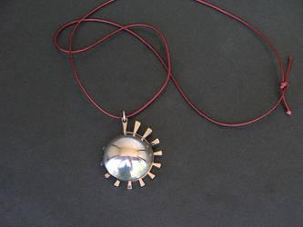 Spiral Sun Pendant by ou8nrtist2
