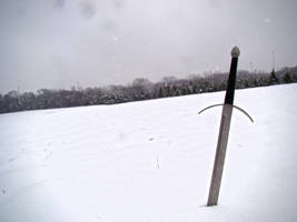 Sword in the Snow by nathanielwilliam