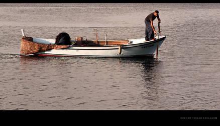 Fisherman in the Dardanelles by gokhanproject