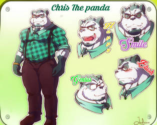 Chris the little panda hipster by Funeral-paws