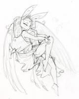 Angel Bunny pencils by dhstein