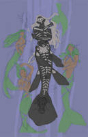 Voodoo mermaid color rough by dhstein