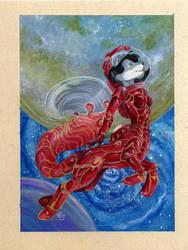 Colored Space Centaur - Greymist Badge by dhstein