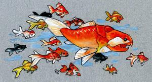 Dunkleosteus Goldfish by dhstein