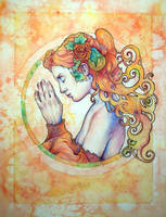 Enchanted Autumn Rose by LindaLisa