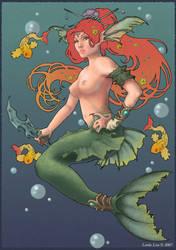 Mermaid Fire by LindaLisa