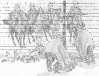 The Thaw, Auschwitz III Monowitz, January 27 1945 by FritzVicari