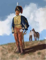 British Hussar, 11th Regiment, Crimea 1854 by FritzVicari