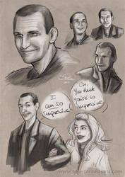 Sketchdump: Ninth Doctor Edition by Pretty-Angel