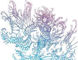 Mermaid Harpist by silverlimit