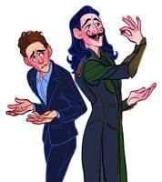 Tom and Loki Redraw by heartbroken-girl