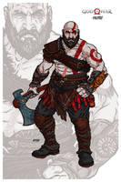Kratos // God of War by nahuel-amaya