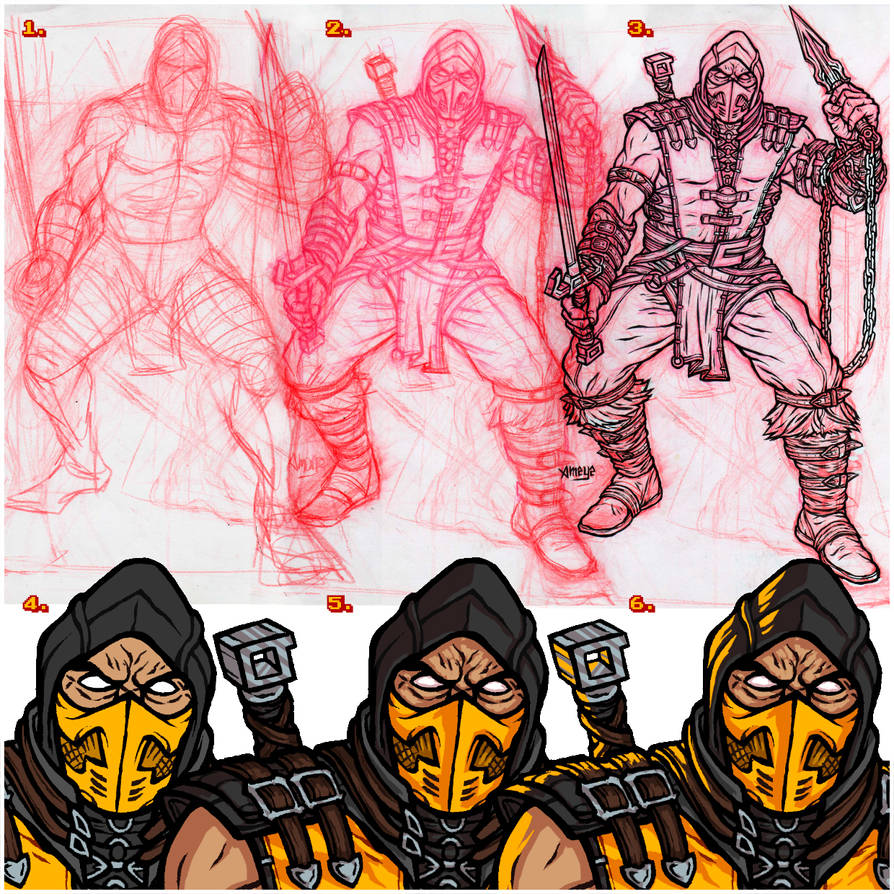 WIP Scorpion // MKX by nahuel-amaya