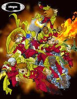 Cyborg 009 Colors by Damien-Skies