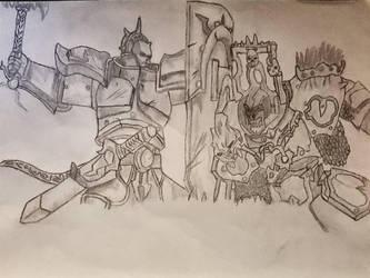 Liberator vs Blood warrior  by FatherGabriel