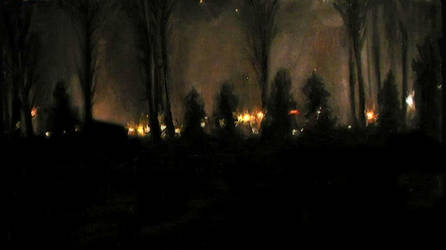 cottonwoods at night by seamonkeycircus