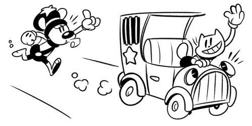 Cartoon Vroooooom! by themsjolly