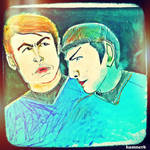 Spock and McCoy by Hamnerd