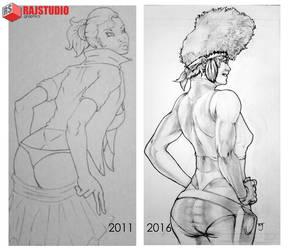 Lady Back Progress by RajStudioGraphics