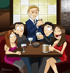 HIMYM: Hanging out at MacLaren's Pub by Whimsical-Waffles