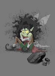 Humbug, the Coal Fairy by Whimsical-Waffles
