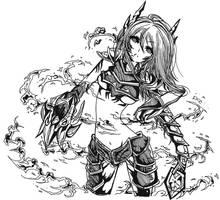 League of Legends Shyvana by zelphie00