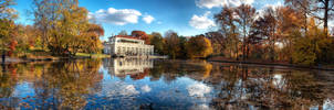 Prospect Park Boathouse Fall by sp1te