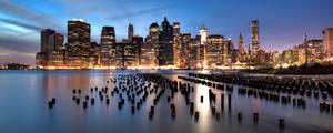 Brooklyn Bridge Park looking at Manhattan by sp1te