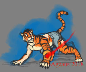 Patreonsketch: GAUNTLET OF TIGER by Ageaus